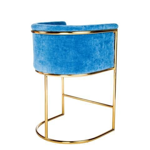 Mira Gold Counter Chair - Image 3 of 3
