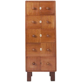 Modernist Five-Drawer Chest in Bubinga Wood For Sale