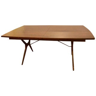 Mid-Century Modern Rosewood Dining Table With Two Leaves by R Way Furniture