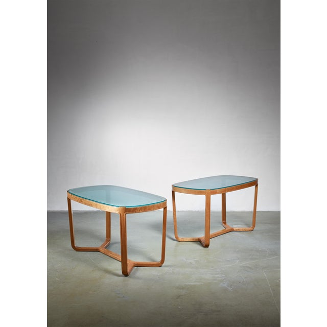 Birch Bertil Fridhagen Pair of Coffee Tables for Smf, Sweden, 1940s For Sale - Image 7 of 7