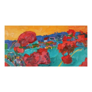 Bay Area Fauvist Landscape, Oil on Canvas, Late 20th For Sale