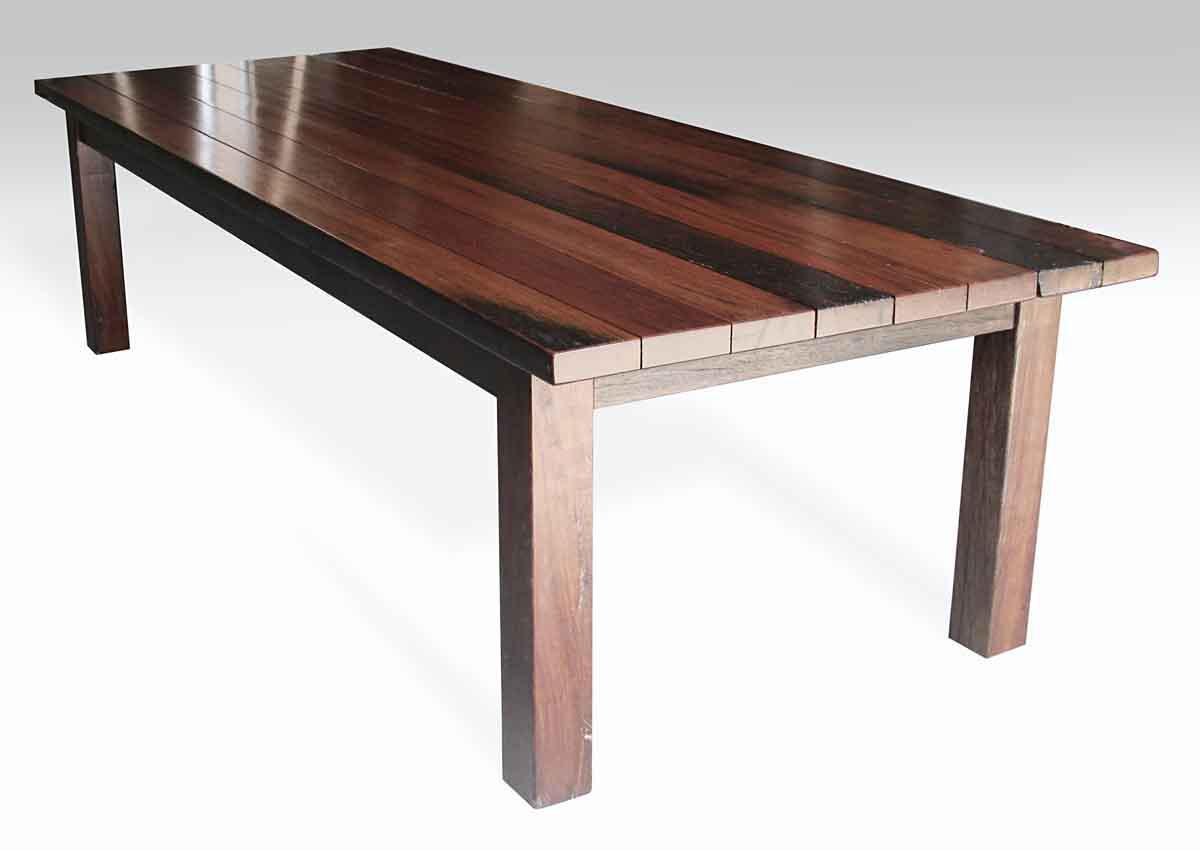 Ipe Wood Plank Farm Table   Image 2 Of 10