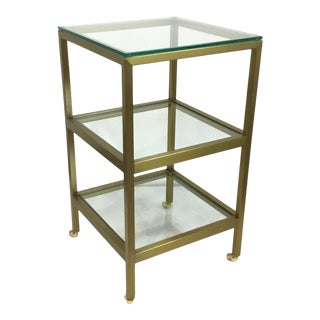 Regina Andrew Modern Gold Finished Three-Tier Alister Side Table For Sale