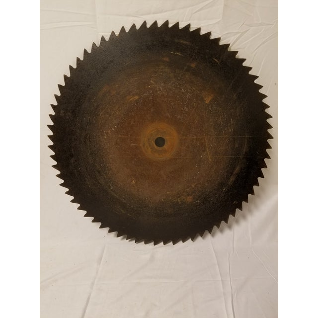 Antique Handhewn Iron Circular Saw Blade - Image 2 of 4