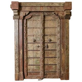 Late 18th Century Vintage Solid Teak Wood Door For Sale