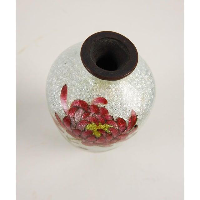 Japanese Ginbari Cloisonne Chrysanthemum Vase - Image 3 of 5