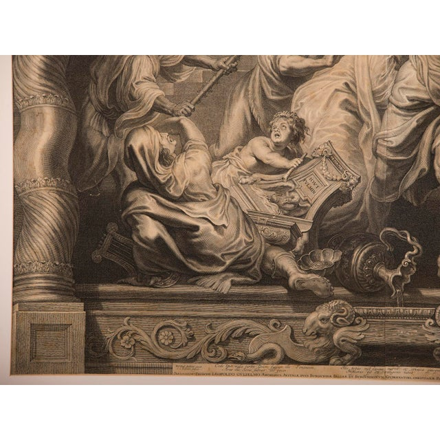 """""""The Triumph of Eucharistic Truth over Heresy"""", an engraving of the painting by Peter Paul Rubens c.1800. For Sale - Image 9 of 11"""
