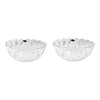Shannon Dublin Godinger Crystal Serving Bowls - a Pair For Sale