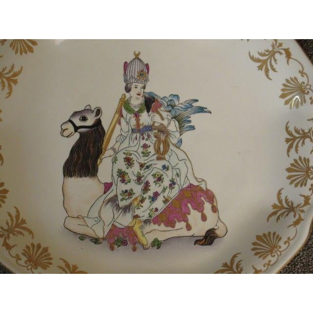LF44520E: Set of 4 CHELSEA HOUSE Paint Decorated Wall Plates Age: Approx. 10 Years Old Details: Gold Painted Decorative...
