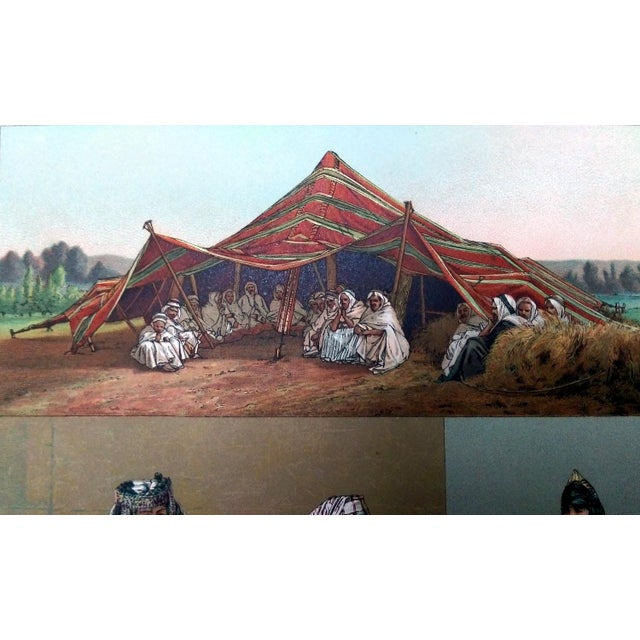 1888 Algerian Tent & Arab Nomad Lithograph For Sale In Los Angeles - Image 6 of 6
