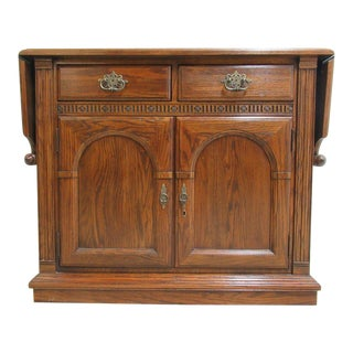 Ethan Allen Charter Oak Jacobean Flip Top Console For Sale