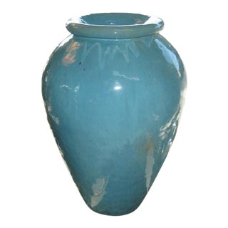 Gladding McBean Turquoise Oil Jar Planter
