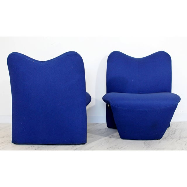 Mid-Century Modern Pair of Sculpted Accent Chairs Paulin Panton Style Italian For Sale In Detroit - Image 6 of 9