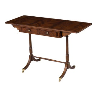 Scarborough House Crotch Mahogany Sofa Table For Sale