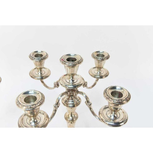 Gorham Sterling Silver 5 Light Candelabras - a Pair For Sale In New York - Image 6 of 7