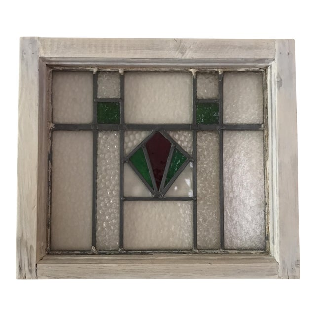 Antique Cottage Stained Glass Window - Image 1 of 9