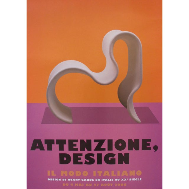 Contemporary 2006 Italian Design Exhibition Poster For Sale - Image 3 of 4
