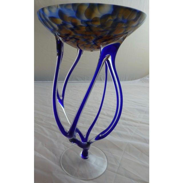 Josefina, Krosno Poland Footed Glass Compote - Image 4 of 8