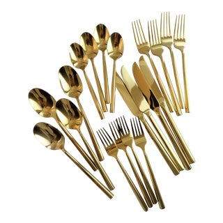 Gold Stainless Steel Flatware - Set of 20
