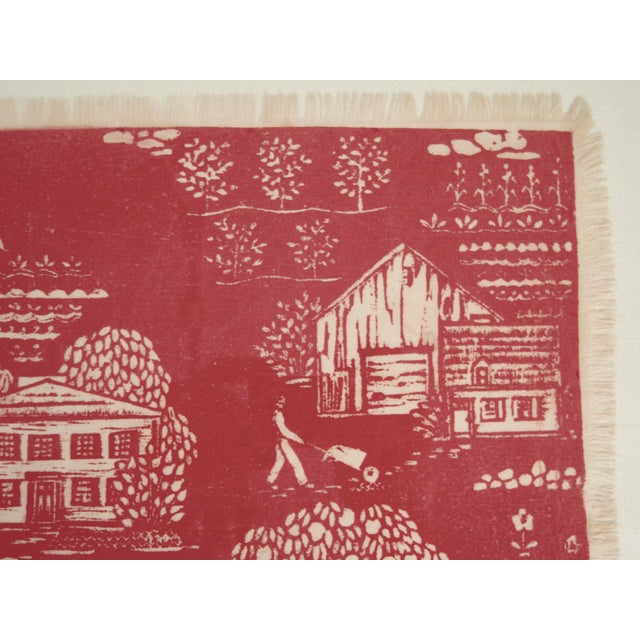 """Folly Cove Designers Folly Cove """"Head of the Cove"""" Hand Block Print For Sale - Image 4 of 9"""