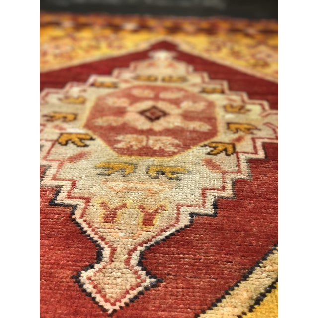 "Bellwether Rugs Vintage Turkish Oushak Area Rug - 3'8"" X 5'4"" - Image 8 of 11"