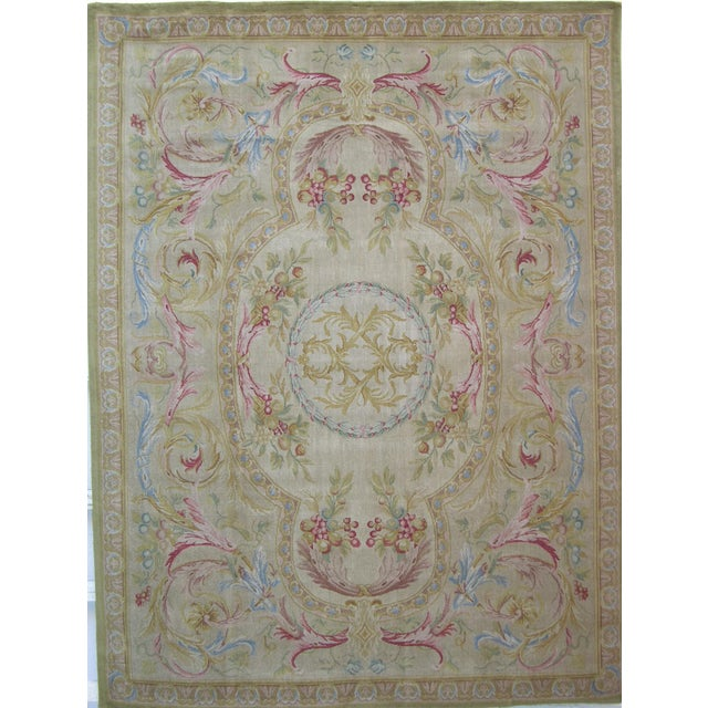 "Savonnerie Area Rug-10'0"" X 8'0"" For Sale In Los Angeles - Image 6 of 6"