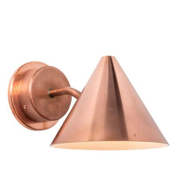 Hans-Agne Jakobsson 'Mini-Tratten' Polished Copper Outdoor Sconce For Sale In Los Angeles - Image 6 of 6