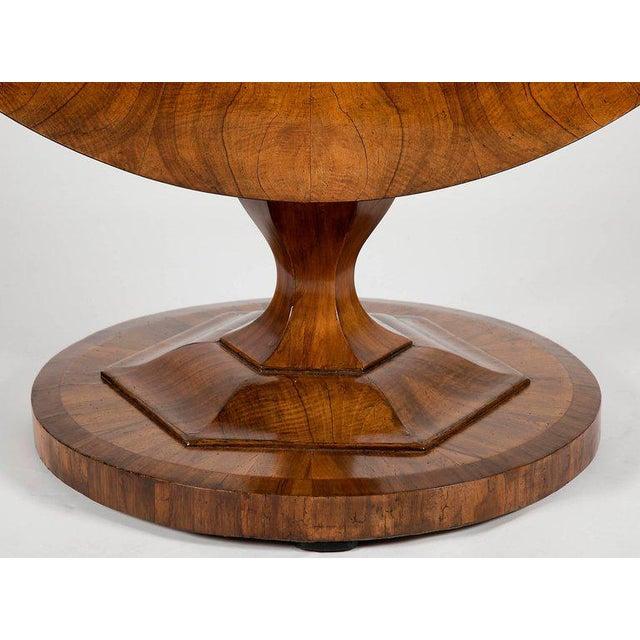Fine Biedermeier Figured Walnut Centre Table For Sale - Image 5 of 8