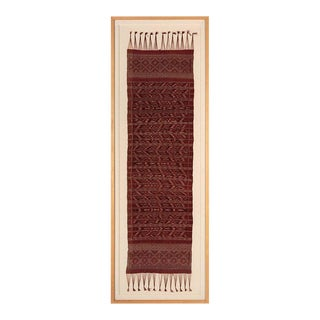 Framed Antique Indonesian Ceremonial Ikat Shawl from Bali For Sale