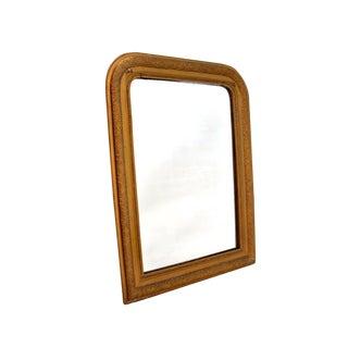 Vintage French Large Gold Leaf Mirror