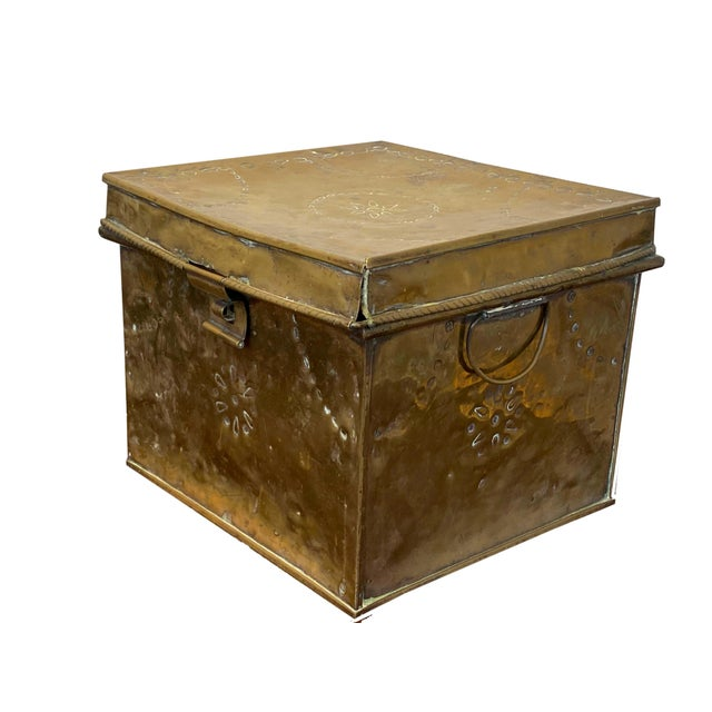 Brass Antique Brass Slipper Warming Box For Sale - Image 8 of 8