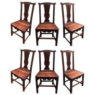 Set of Six Late 18th Century Country Chippendale Chairs For Sale