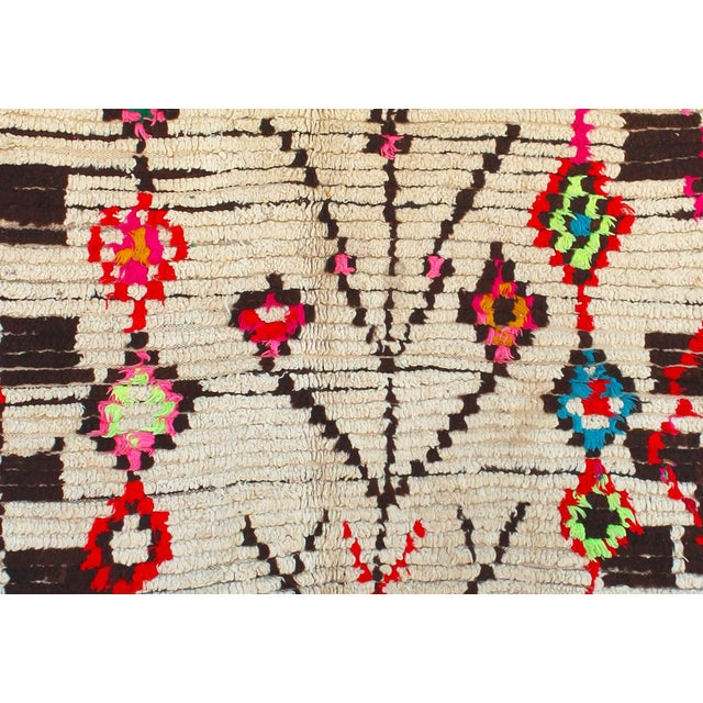 "Vintage Ourika Moroccan Berber Rug - 4'9"" X 7'3"" - Image 2 of 4"