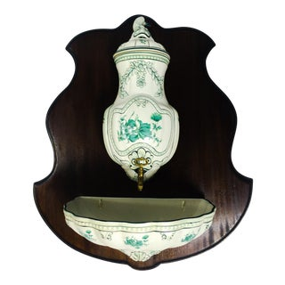 French Hand Painted Ceramic Lavabo