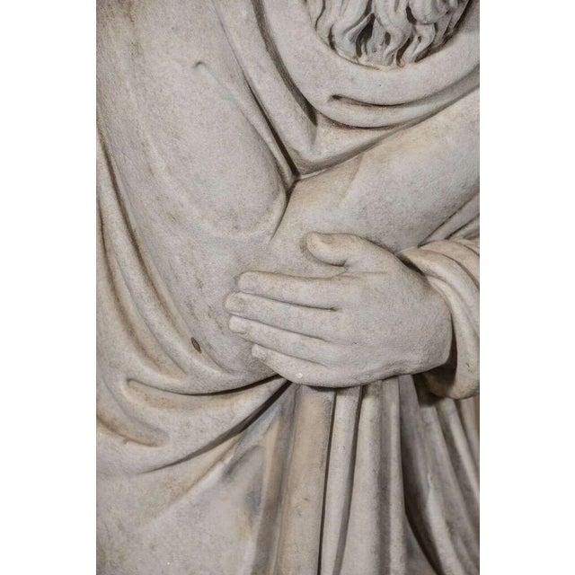 Stone Italian Carrara Marble Statue For Sale - Image 7 of 9