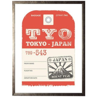 """Tokyo Travel Ticket - 13.5"""" X 17.5"""" For Sale"""
