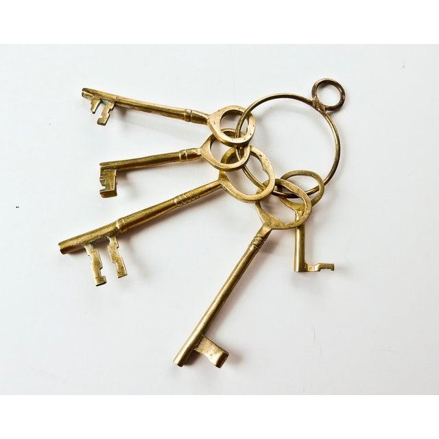 Vintage Brass Skeleton Keys - Image 2 of 9