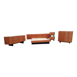 r.s. Associates Furniture Mid-Century Danish Modern Teak Bedroom Set - 6 Pc. For Sale