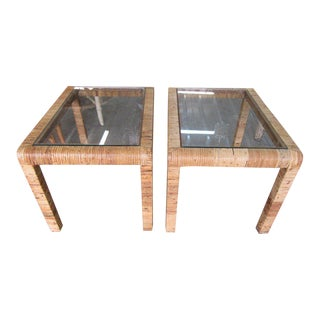 Billy Baldwin Style Side Tables - a Pair For Sale