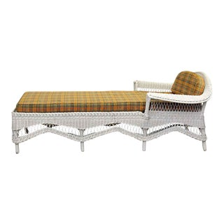 Vintage Wicker Chaise