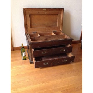 20th Century Traditional Wood Carpenter Chest Preview