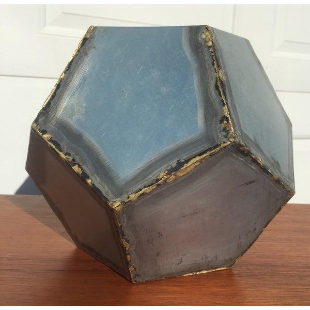 Brutalist Zinc Geometric Planter - Image 5 of 5