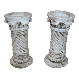 Roman Style Column Rustic Decor Pieces - a Pair For Sale