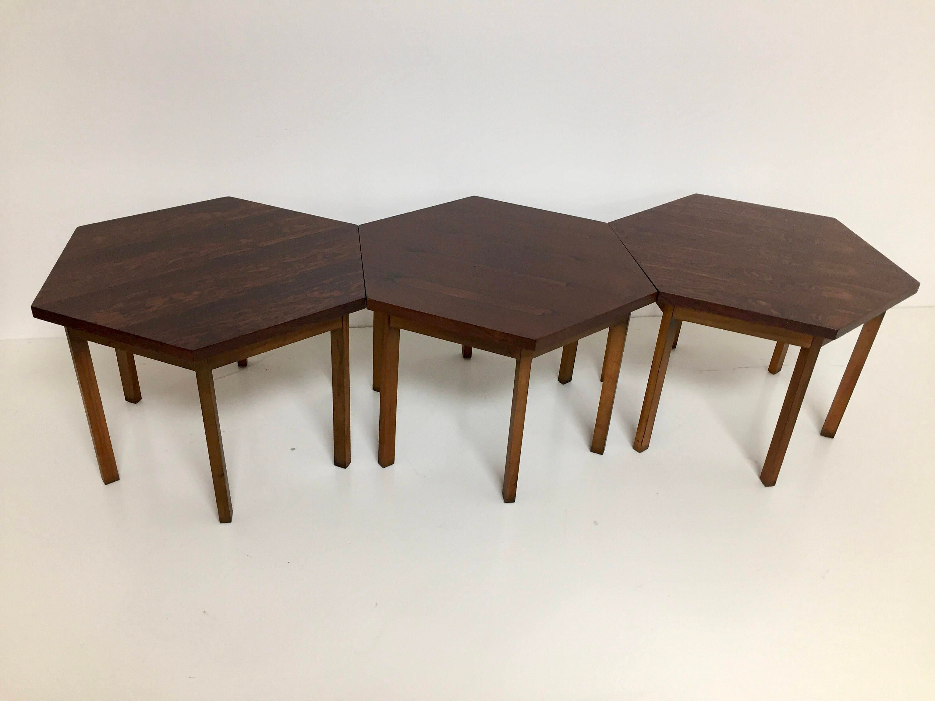 Paul McCobb For Lane Delineator Design Rosewood Tables   Set Of 3 For Sale  In Houston