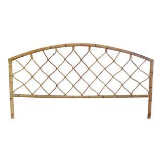 King Size Bamboo Rattan Headboard