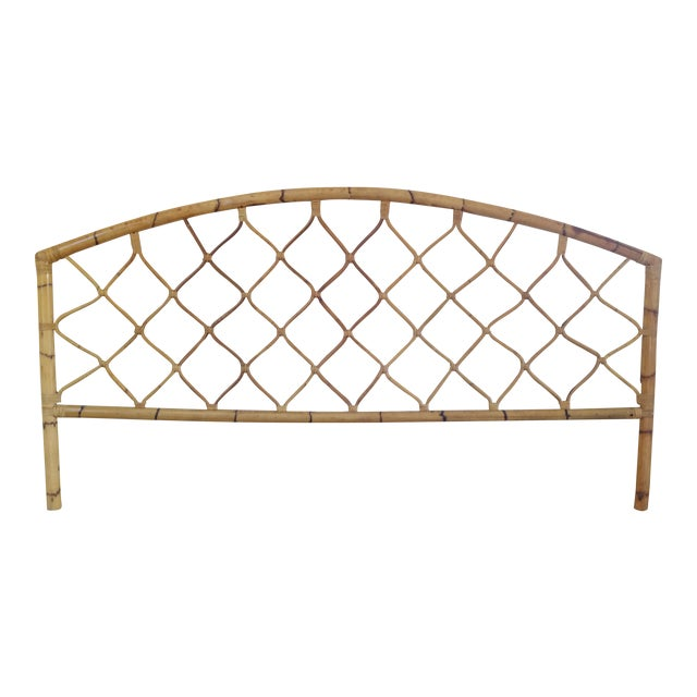 King Size Bamboo Rattan Headboard - Image 1 of 6