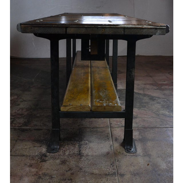 1950s Long Industrial Table 10 Ft. For Sale In Los Angeles - Image 6 of 9