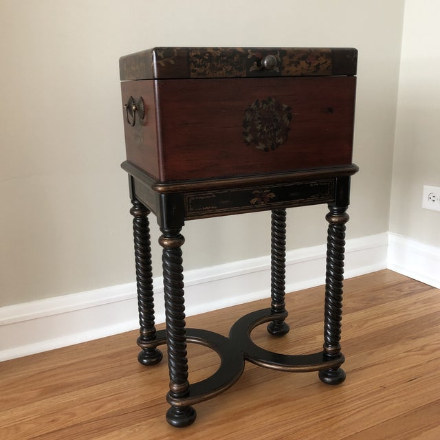 Traditional Hooker Furniture Living Room Dynasty Box on Stand For Sale - Image 12 of 13