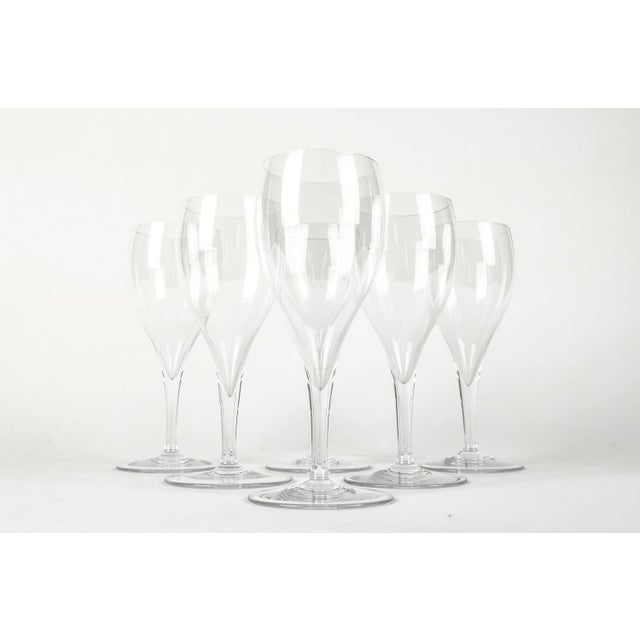 Mid 20th Century Vintage Baccarat Crystal Wine Glassware Set Six For Sale - Image 5 of 7