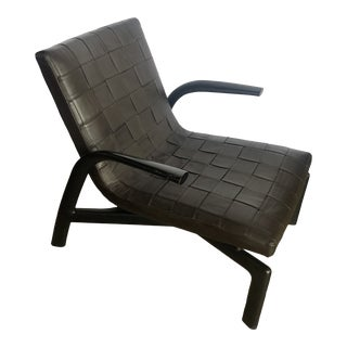 Minotti Pasmore Leather Armchair For Sale